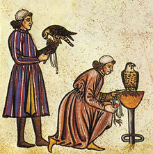220px-Falconry_Book_of_Frederick_II_1240s_detail_falconers[1]